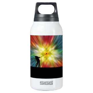 Tie Dye Silhouette Golfer 10 Oz Insulated SIGG Thermos Water Bottle