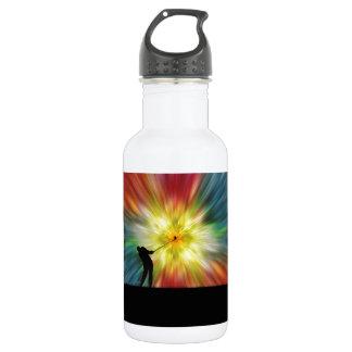 Tie Dye Silhouette Golfer 18oz Water Bottle