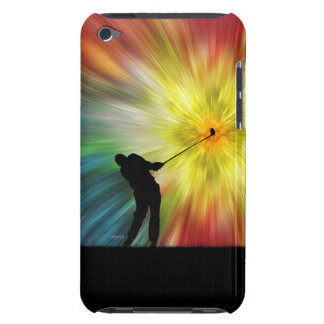Tie Dye Silhouette Golfer iPod Touch Cases