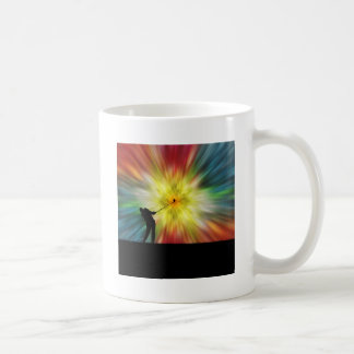 Tie Dye Silhouette Golfer Classic White Coffee Mug
