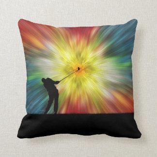 Tie Dye Silhouette Golfer Pillows