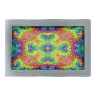 Tie Dye Sky Colorful Belt Buckle