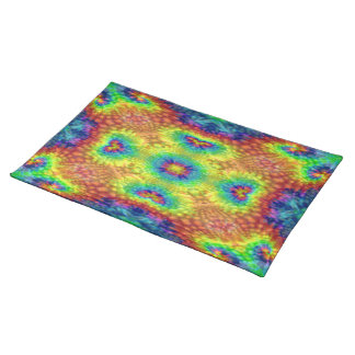 Tie Dye Sky Colorful Cloth Placemats