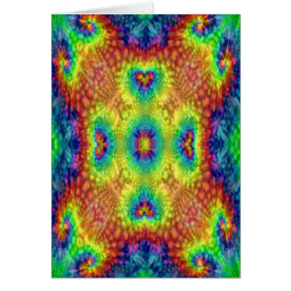 Tie Dye Sky Colorful Greeting Cards & Envelopes