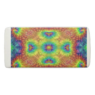 Tie Dye Sky Colorful Wedge Eraser