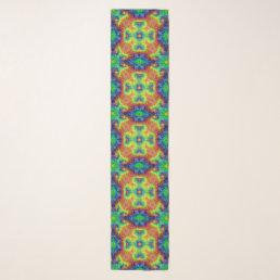 Tie Dye Sky Vintage Kaleidoscope  Chiffon Scarf