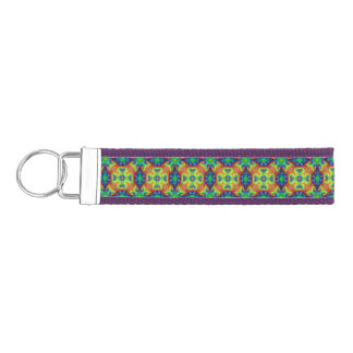 Tie Dye Sky Wrist Strap Keychains
