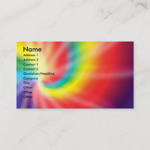 Tie dye business cards templates zazzle tie dye slightly enlarged business card colourmoves