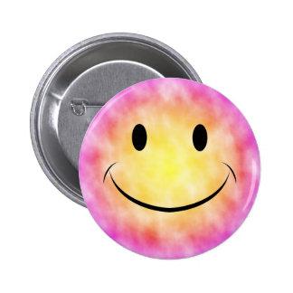Tie Dye Smiley Button