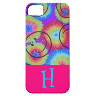 Tie dye smily face pink iphone 5 iPhone SE/5/5s case