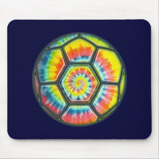 Tie-Dye Soccer Ball Mouse Pad