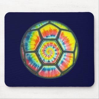 Tie-Dye Soccer Ball Mouse Pad