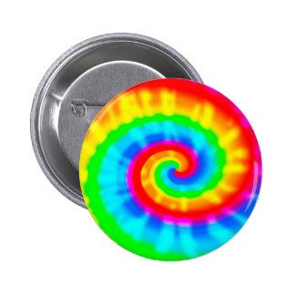Tie Dye Spiral Pins
