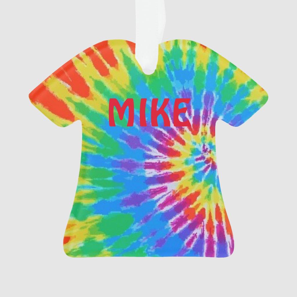 Tie Dye Spiral Rainbow Ornament