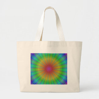 Tie Dye Starburst Abstract Rainbow Canvas Bags