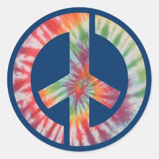 Tie-Dye Stencil Peace Classic Round Sticker