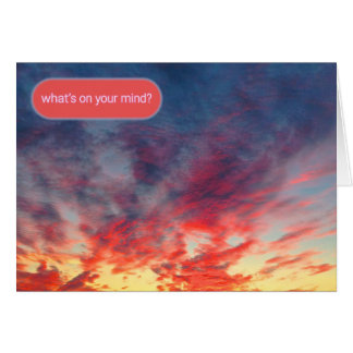 Tie Dye Sunset Reaching Out Card