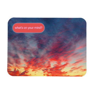 Tie Dye Sunset Support System Magnet