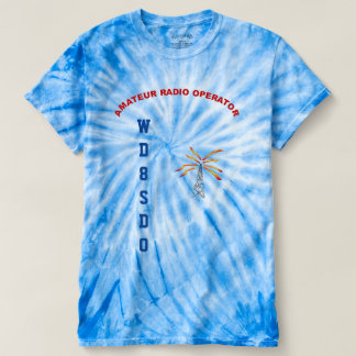 Tie Dye T with call and tower graphics T-shirt