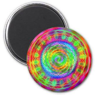 Tie Dye Target magnet