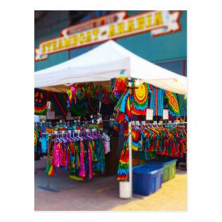 Tie Dye Tent City Market Steamboat Arabia KC Postcard