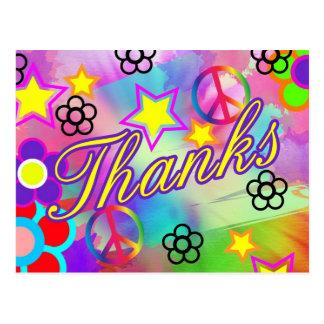 Tie-dye thank you card