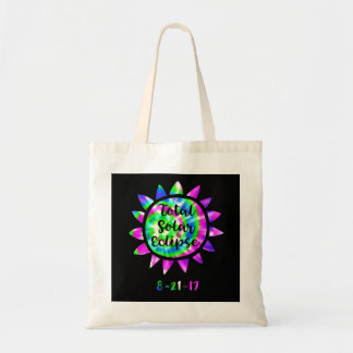 Tie Dye Total Solar Eclipse Tote Bag