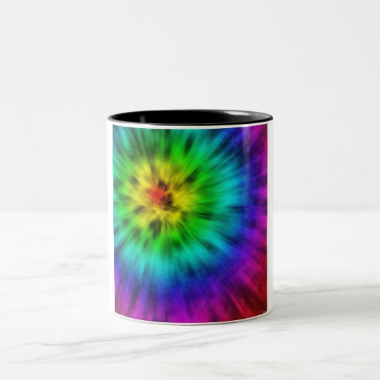 Tie Dye Two-Tone Coffee Mug
