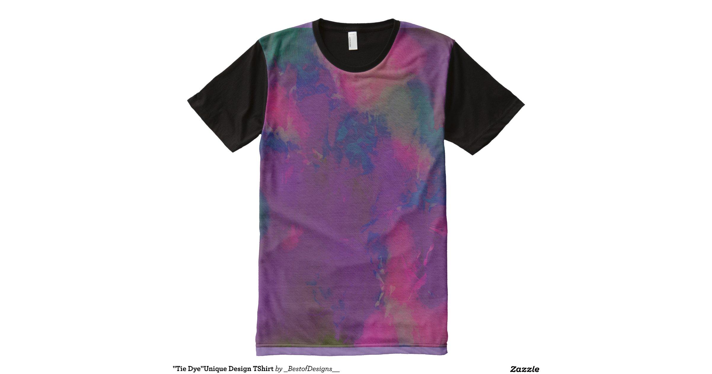 Tie Dye Unique Design Tshirt All Over Print T Shirt Zazzle