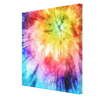 Tie Dye Watercolor Canvas Prints