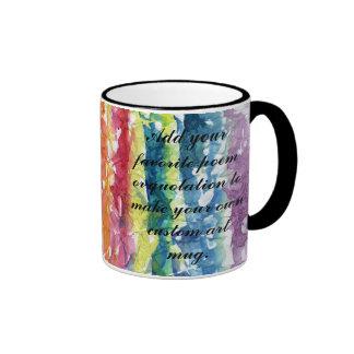 Tie Dye Watercolor Painting Background Mug