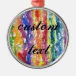 Tie Dye Watercolor Painting Background Christmas Ornaments