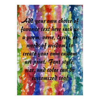 Tie Dye Watercolor Painting Background Poster