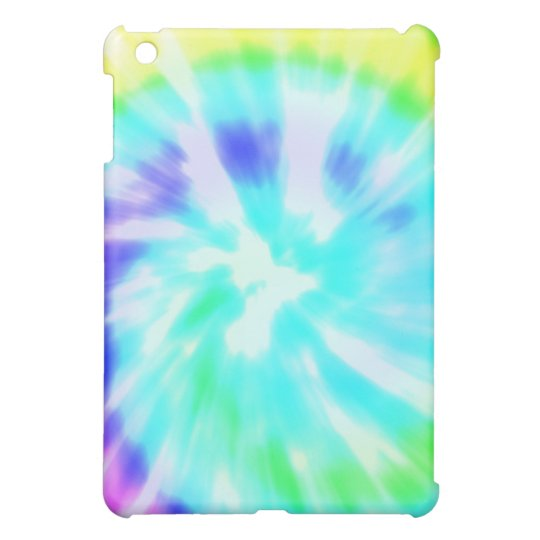Tie dye watercolor pastels hipster ikat pattern iPad mini cover
