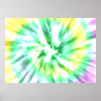 Tie dye watercolor pastels hipster ikat pattern poster