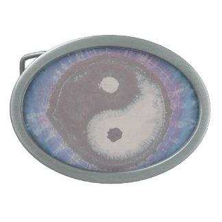 Tie Dye Yin Yang Belt Buckle
