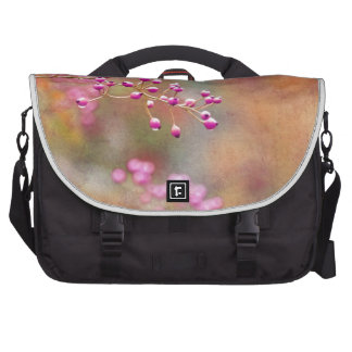 Tie Dyed Berries In Pink Orange And Gold Laptop Commuter Bag