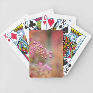 Tie Dyed Berries In Pink Orange And Gold Poker Cards
