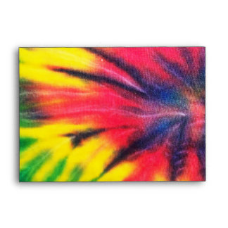 Tie Dyed Black Peace Sign A6 Envelope
