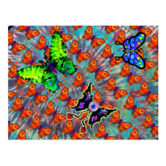 Tie-Dyed Butterfly Postcard