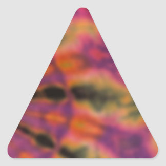 Tie Dyed Changed the World Triangle Stickers