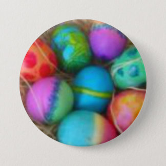 Tie Dyed Eggs Button Pins