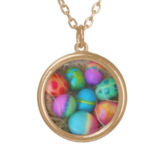 Tie Dyed Eggs Necklace