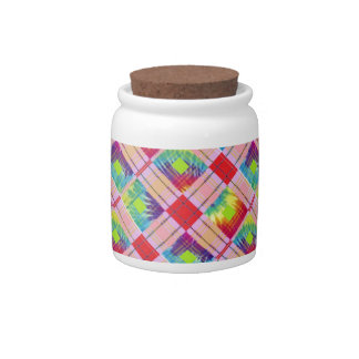 Tie dyed expression candy dish