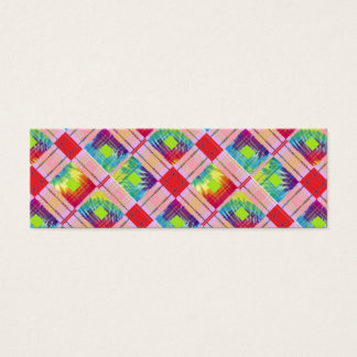 Tie dyed expression mini business card