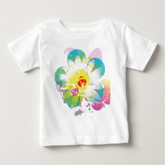 Tie Dyed Flowers Baby T-Shirt