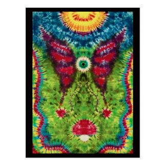"Tie-Dyed ""Flying Eyeball""  Postcard"