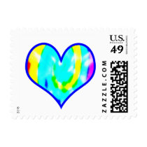 Tie Dyed Heart Postage