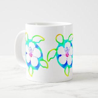 Tie Dyed Honu Turtle 20 Oz Large Ceramic Coffee Mug