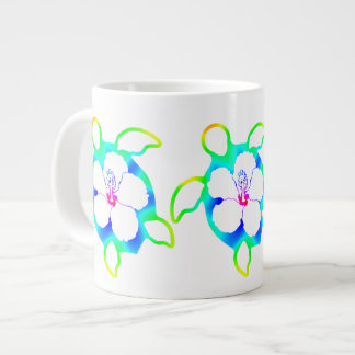 Tie Dyed Honu Turtle Giant Coffee Mug